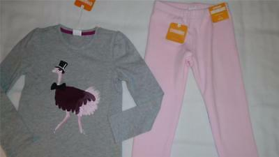 NEW Girls Size 5-6 Gymboree Outfit Ostrich Shirt & Pink Warm & Fuzzy Legging NWT