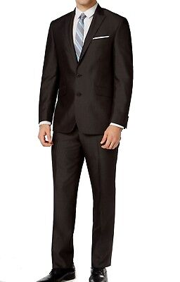 Kenneth Cole Reaction NEW Dark Gray Mens Size 36 Two Button Suit Set $229 002