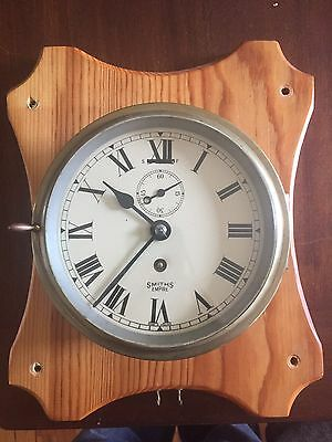 Vintage Brass Smiths Empire Ships Clock Antique Used Collector Working