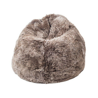 Taupe Beige Icelandic Sheepskin Wool Bean Bag Real Shaggy Fur Shorn Aus Made