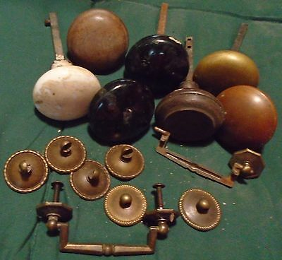 Lot of miscellaneous old door knobs and some findings