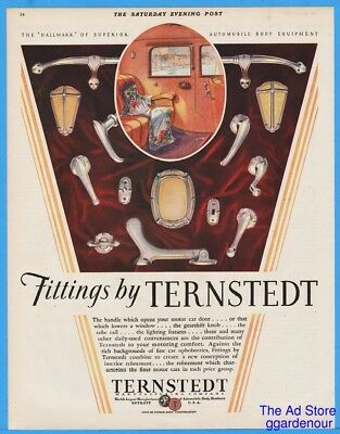 1929 Ternstedt Fisher Body Motor Car Interior Trim Automobile Fitting Antique Ad