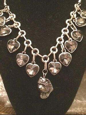 Cairn Terrier Glass Hearts necklace