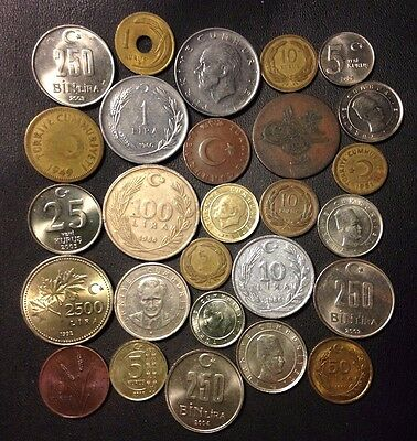 Old Turkey Coin Lot - 1865-PRESENT - 27 Great Islamic Coins - Lot #815
