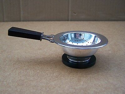 Danish .830 Silver And Bakelite Tea Strainer By Carl M. Cohr Of Fredericia