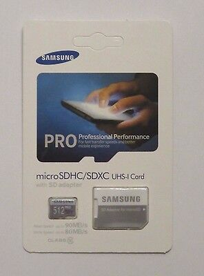 New SAMSUNG 512gb micro sd flash memory card Evo Pro SDXC class 10 with adapter