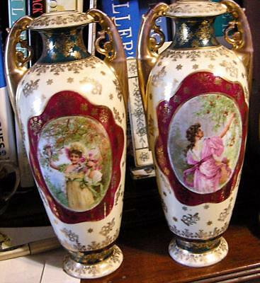 Fab Pair Royal Vienna Urns, In great condition No chips, breaks, repairs