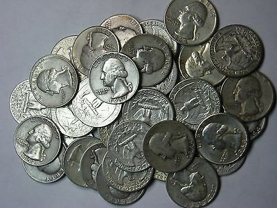 40 - 90% Silver Quarters  $10 Face - Silver is a great investment!   #4