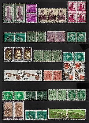 INDIA - mixed collection, joined pairs strips block No.10