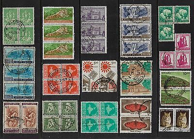INDIA - mixed collection, joined pairs strips blocks No.14