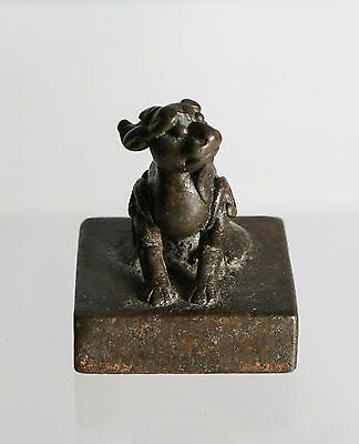 Ming Dynasty Chinese Bronze Seal With Beast