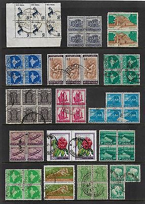 INDIA - mixed collection, joined pairs strips blocks No.16