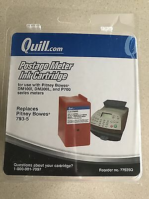 Red Ink Cartridge 793-5 For Pitney Bowes Postage Meter Used Quill Brand
