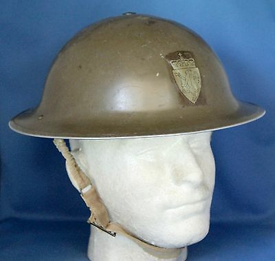 Norwegian S/d Army Postwar Reissued British Mk. Ii  Helmet