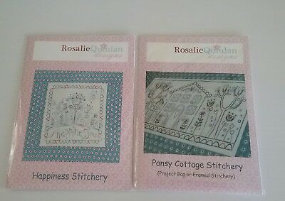 2 Rosalie Quinlan Stitchery Patterns With Pre Printed Fabric