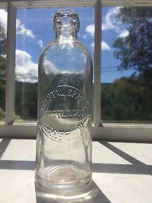 Scarce Vermont Hutchinson Soda Water Bottle - Crystal Spring - Barnet, Vt C.1880