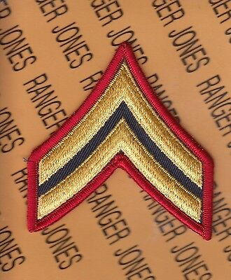 "US Army Enlisted Corporal CPL E-4 BAND 3"" uniform patch rank single"
