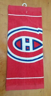 Montreal Canadiens Logo Golf Towel Unused NHL Official Licensed Product