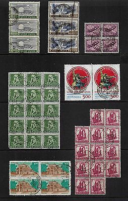 INDIA - mixed collection, joined pairs strips blocks No.18
