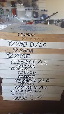 Yamaha Yz250 Service Manuals Most Models/years Available See Listing