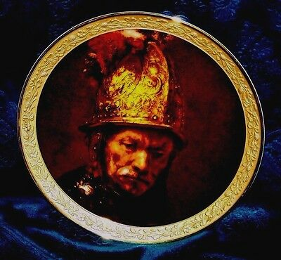 """Gorham Gallery of the Masters plate - """"Man with a Gilt Helmet"""""""