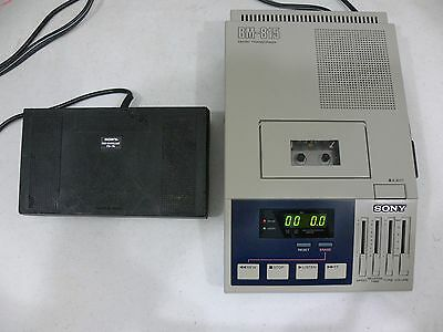Tested Sony Bm-815 Micro Cassette Transcriber / Dictator Foot Control Japan