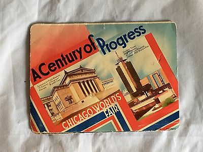 1934 Chicago World's Fair Souvenir Sewing Kit  Century Of Progress Incomplete