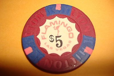 Flamingo Casino $5.00 Hilton Mold Casino Chip Las Vegas Nevada