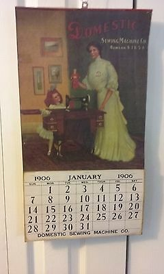 Domestic Sewing Machine Calendar 1906 In Nice Condition