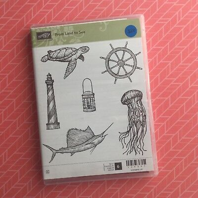 Stampin' Up!® Retired From Land To Sea Clear Set Of 6