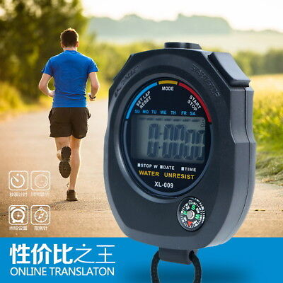Sports Stopwatch Waterproof Digital Stopwatch Chronograph Counter Timer Watch