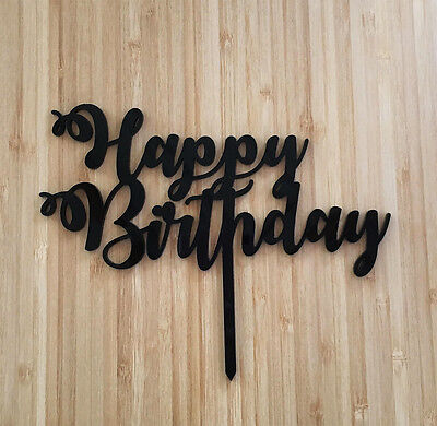Happy Birthday Acrylic Cake Topper Choose Colour