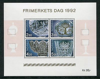 Decorated Glassware: Stamp Day 1992 - Mnh Minisheet  (Bl317-Rr)