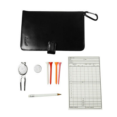 Golf Score Card Holder Case with Pencil Waterproof Multi-function