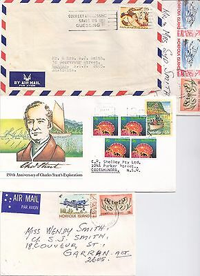 Old Used Covers 2 Air Mail 1 New Guinea 2 Norfolk Island