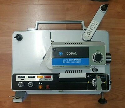Copal CP Sound 402 8mm Film Projector and screen