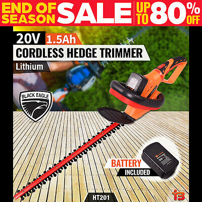 Black Eagle 20V Cordless Battery Hedge Trimmer Lithium-Ion Electric Garden Tool