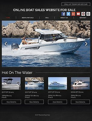 Online Website For Sale, Boat Hire/Sales. Suit Any Location