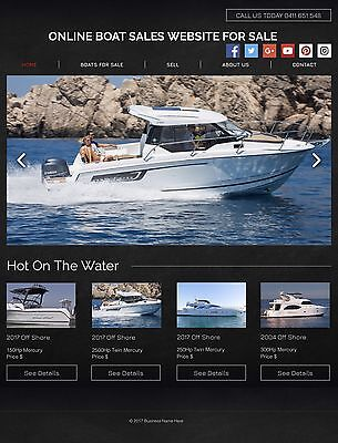 Online Website For Sale, Boat Sales. Suit Any Location