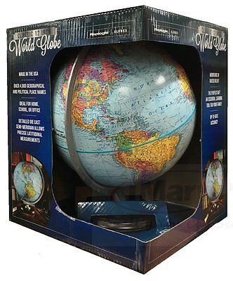 Replogle Classic 12 Inch World Globe ideal for home school or office Brand New 2