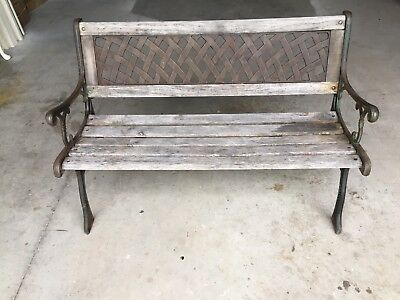 Cast Iron / Timber Slat Outdoor Bench Seat -Buy Now.