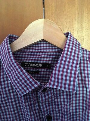 Connor Blue And Purple Checkered Shirt XL Slim Fit