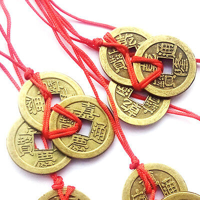 Chinese Feng Shui Brass Coins Ching for Good Luck Fortune Success Wealth Gift