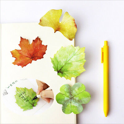2XCute Kawaii Paper Sticky Memo Pad Creative Maple Leaf Note For Kids Stationery