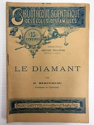Antique 1880s Book on Diamonds by Mercereau, 12 Illustrations, Diamond Deposits