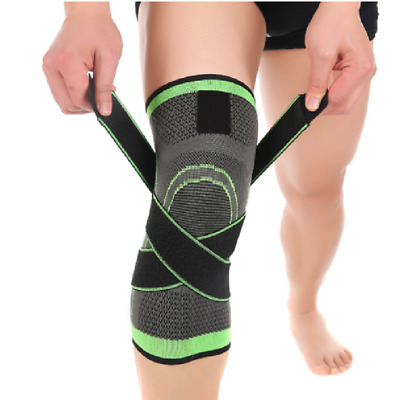 3D Weaving Sport Gym Elastic Knee Pad Wrap Support Brace Injury Sleeve Cycling