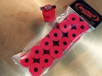 Red Cymbal Felts - PACK OF 12 FELTS