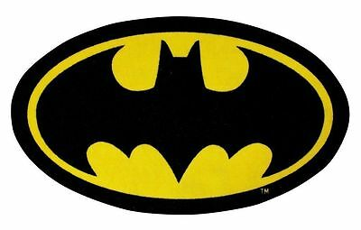 Official Batman Batcave Logo Shaped Rug Bedroom Floor Mat Yellow/Black