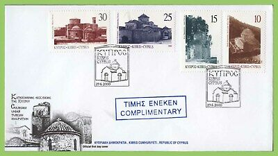 Cyprus 2000 Greek Orthodox Churches set complimentry First Day Cover
