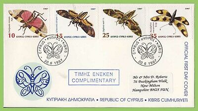 Cyprus 1997 Insects P.O. complimentry  First Day Cover